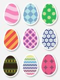 Set of Easter egg stickers Stock Photos