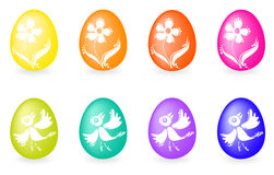 Set of easter eggs Royalty Free Stock Photos