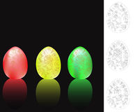 Set of easter eggs. Royalty Free Stock Photos
