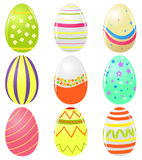 Set of easter eggs. Cute colorful set of easter eggs with different design Royalty Free Stock Photography