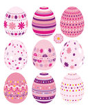 Set of Easter eggs. An illustration for your design project Stock Images