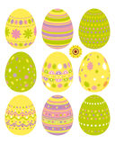 Set of Easter eggs. An illustration for your design project Royalty Free Stock Images