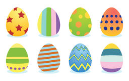 Set of easter eggs Royalty Free Stock Image