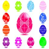 Set of Easter eggs. Stock Images