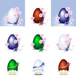 Set Easter Eggs Stock Image