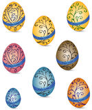 Set of Easter eggs. Isolated on white background Royalty Free Stock Photo