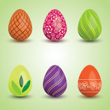 Set of Easter Eggs Stock Photography