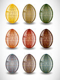 Set of easter eggs. Stock Photos
