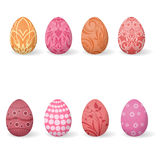 Set Easter eggs Royalty Free Stock Images