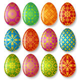 Set of easter eggs. Isolated on white background Royalty Free Stock Images
