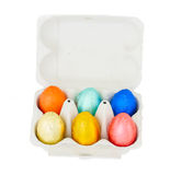 Set of easter eggs in  box Royalty Free Stock Image