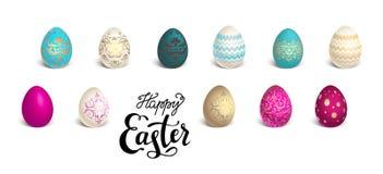 Set of Easter eggs royalty free illustration