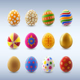 Set of Easter Eggs Stock Photos