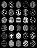 Set of Easter Eggs stock image