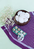 Set for Easter eggs decoration Royalty Free Stock Photo