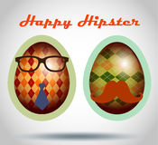 Set of easter eggs decorative hipster style. Stock Images
