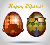 Set of easter eggs decorative hipster style. Stock Photography