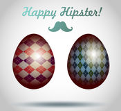 Set of easter eggs decorative hipster style. Stock Photo