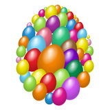 Set of easter eggs design. Abstract art illustration Royalty Free Stock Image