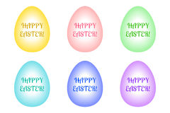 Set of Easter eggs of different colors Royalty Free Stock Photography