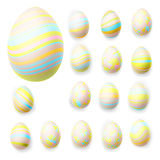 Set of easter eggs. EPS 10 Royalty Free Stock Photo