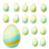 Set of easter eggs. EPS 10 Royalty Free Stock Images