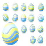 Set of easter eggs. EPS 10 Stock Photos