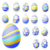 Set of easter eggs. EPS 10 Stock Images