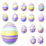 Set of easter eggs. EPS 10 Stock Photo
