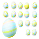 Set of easter eggs. EPS 10 Royalty Free Stock Photos