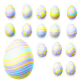 Set of easter eggs. EPS 10 Stock Photography