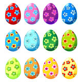Set of Easter eggs with floral pattern. Vector Illustration EPS10 Vector Illustration