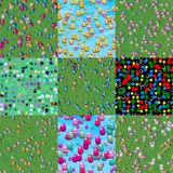 Set of easter eggs generated seamless textures Royalty Free Stock Photography