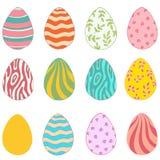 Set of easter eggs isolated on white background. Doodle style royalty free illustration