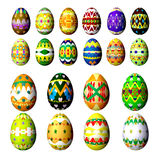Set easter eggs isolated on white Stock Image
