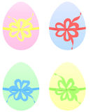 Set of Easter Eggs in pastel color. Set of Easter Eggs with bow in pastel shades Royalty Free Stock Image