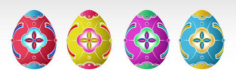 Set of  Easter Eggs with pattern. Stock Image