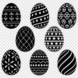 Set of Easter eggs with patterns Stock Images