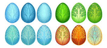 Set of Easter eggs Seasons. Vector Illustration EPS10 Vector Illustration