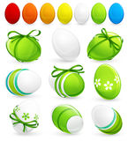 Set of easter eggs. Vector Stock Photos