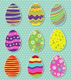 Set of easter eggs. Vector art background,print or illustration Royalty Free Stock Image