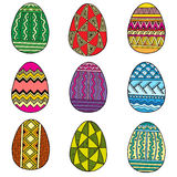 Set of Easter eggs. Vector colorful eggs isolated on white background. Royalty Free Stock Images