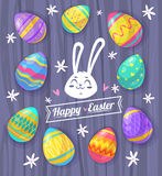 Set of Easter eggs. Vector cute illustration Royalty Free Stock Photo