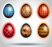Set of easter eggs Stock Images