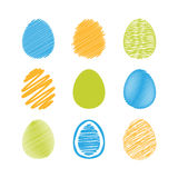 Set of easter eggs. Stock Photo