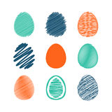 Set of easter eggs. Royalty Free Stock Photo
