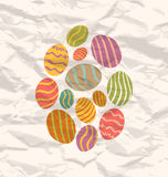 Set Easter eggs, vintage celebration background Royalty Free Stock Photos