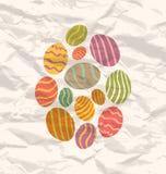 Set Easter eggs, vintage celebration background Royalty Free Stock Photos