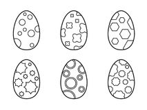 Set of Easter eggs on a white background. Set of Easter eggs on a white background for your design stock illustration