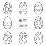 Set of Easter eggs on a white background. Set of Easter eggs on a white background for your design vector illustration